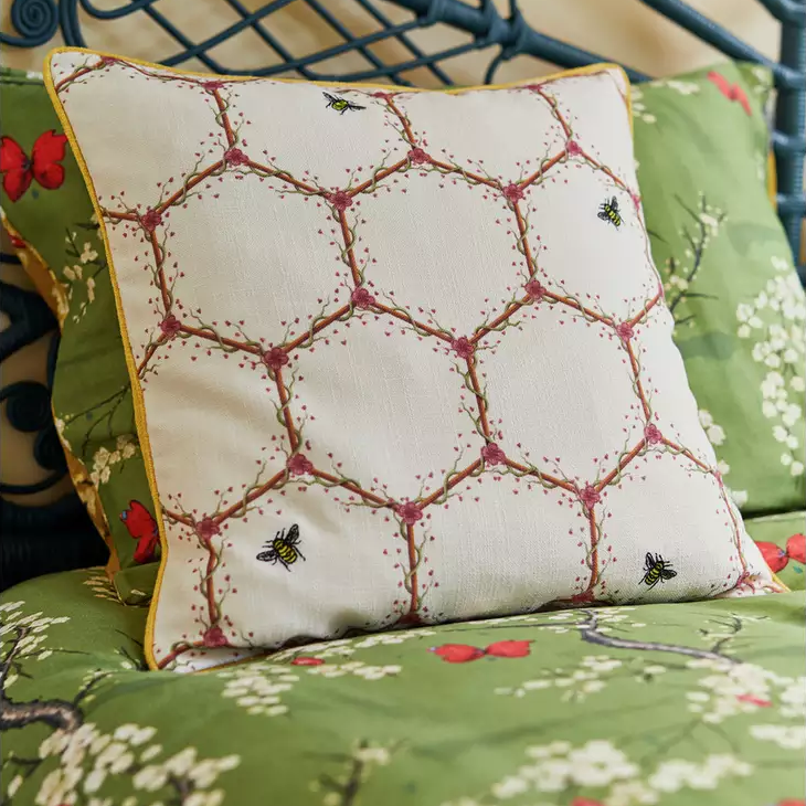 Angel Strawbridge Cushion Honeycomb