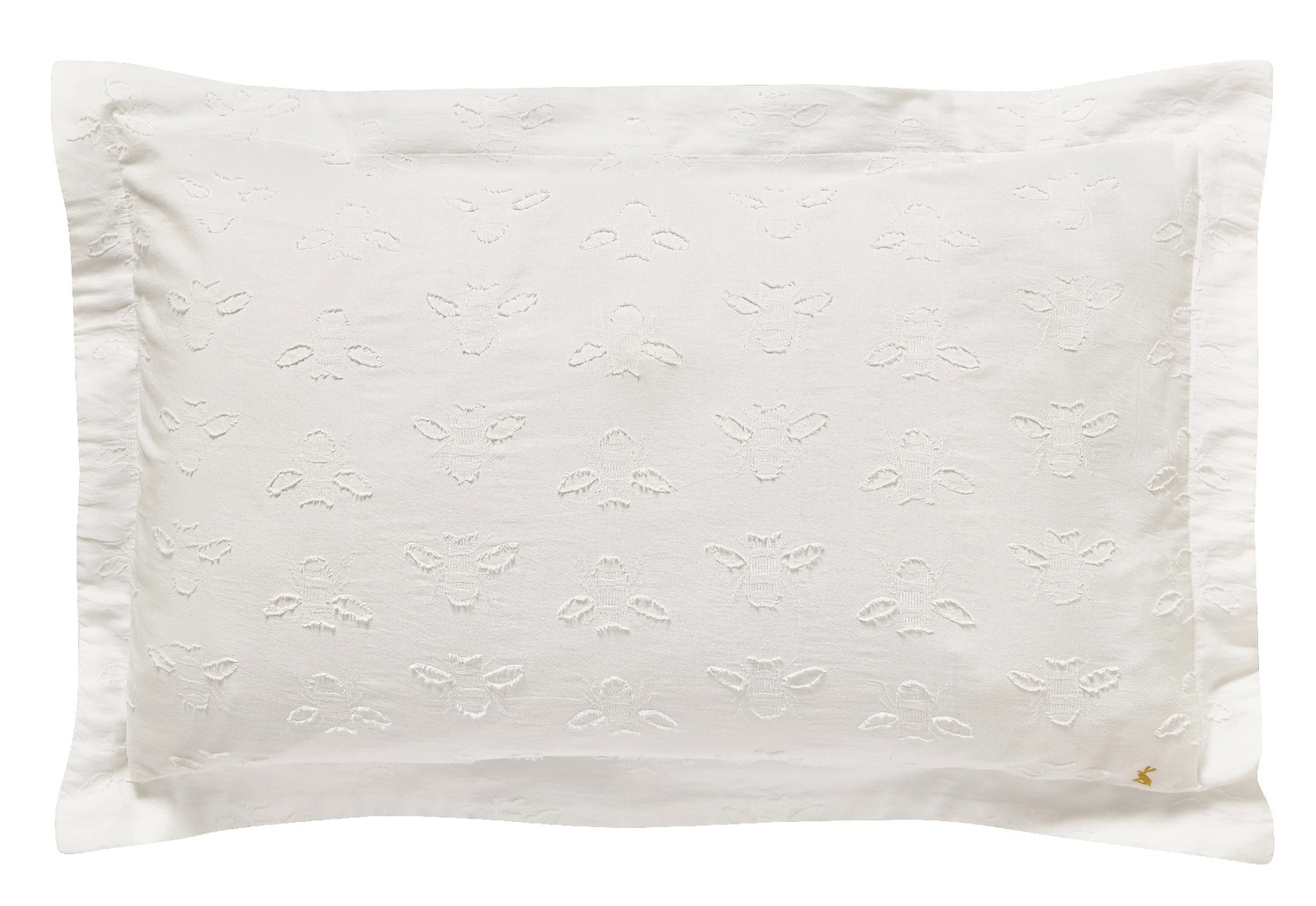 Joules Botanical Bee Clipped Oxford Pillowcase