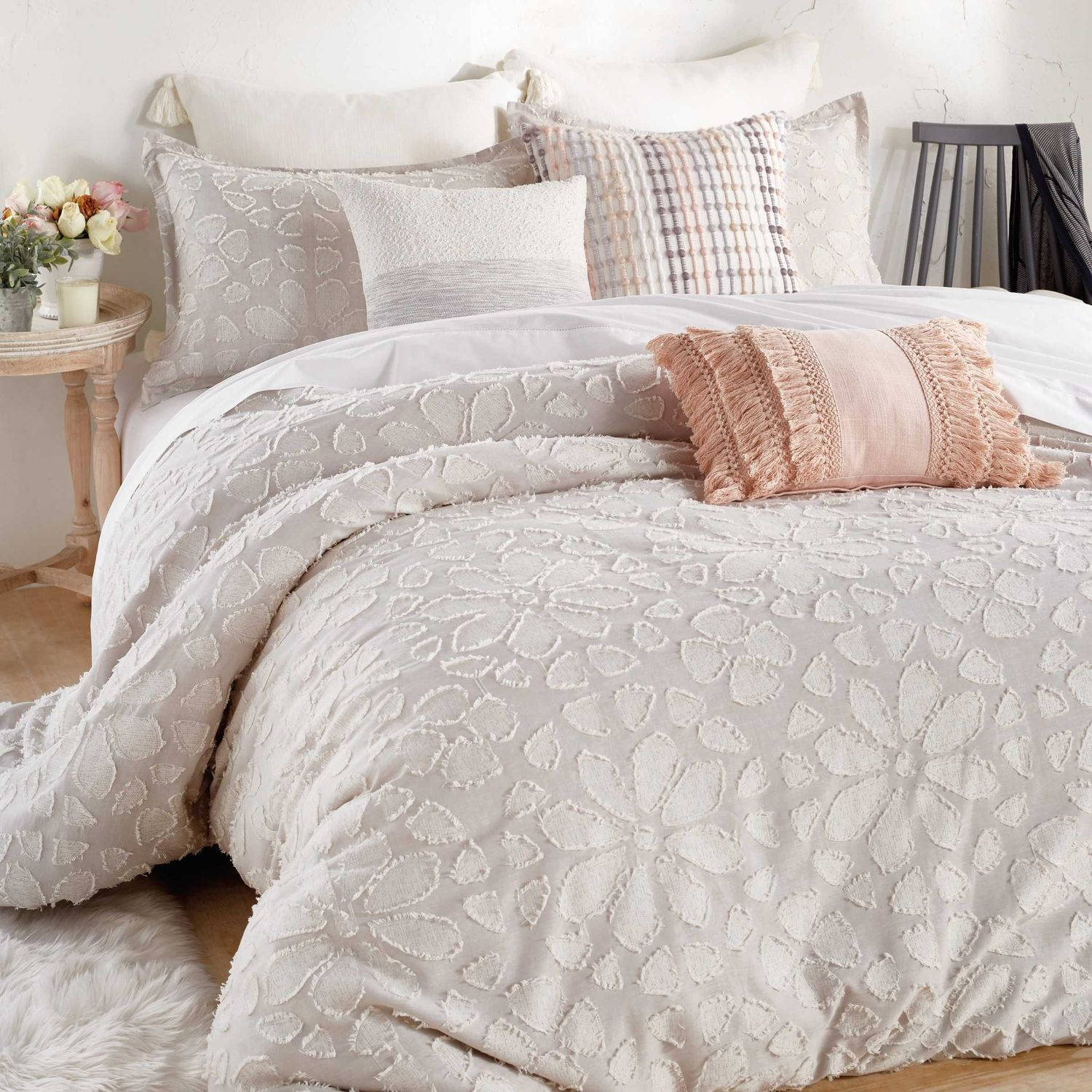 Peri Home Clipped Floral Textured Bedding