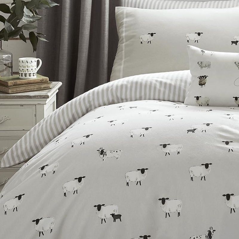 Sophie Allport Sheep Brushed Cotton Duvet Set Single