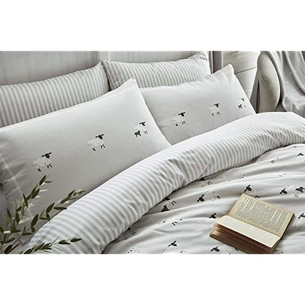 Sophie Allport Sheep Brushed Cotton Duvet Set King