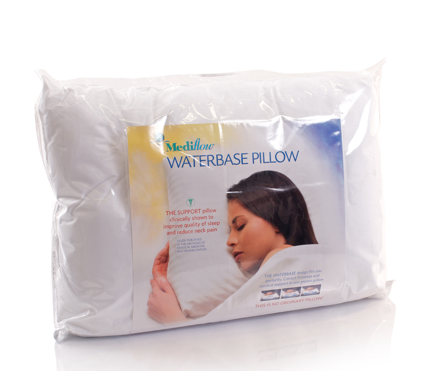 mediflow waterbase support pillow from. Black Bedroom Furniture Sets. Home Design Ideas