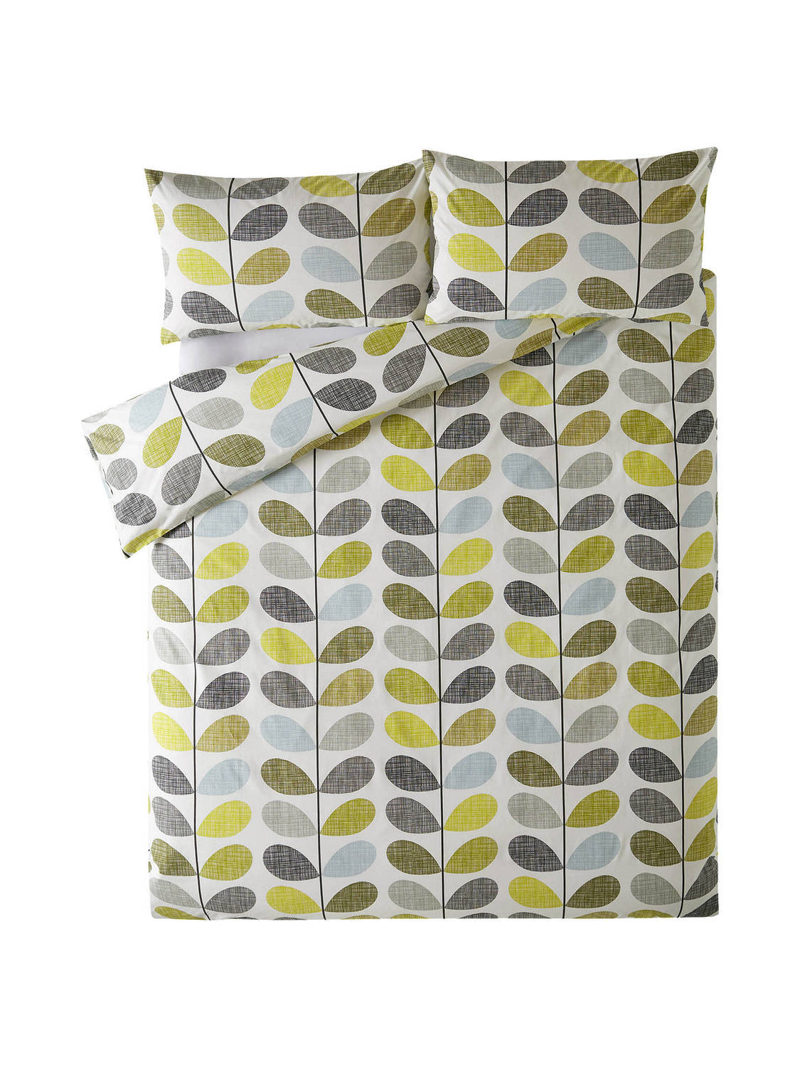 Orla Kiely Scribble Stem Duckegg Seagrass Pillowcase Pair