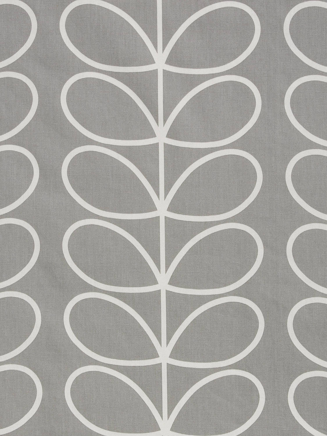 Orla Kiely Linear Stem Curtains Silver Eyelet 46x54