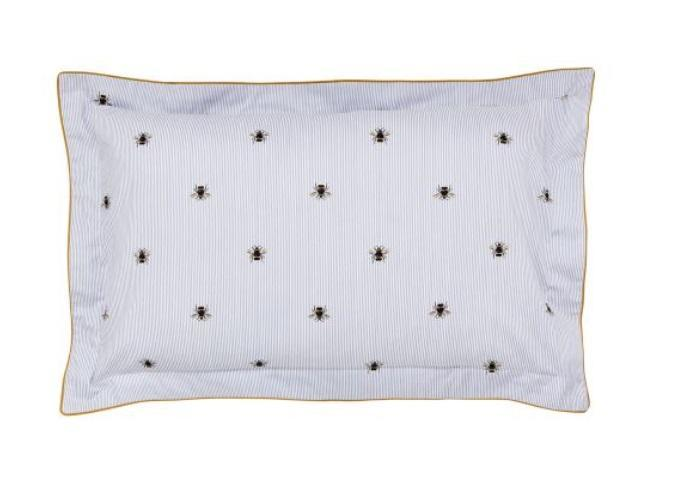 Joules Botanical Bee Blue Oxford Pillowcase