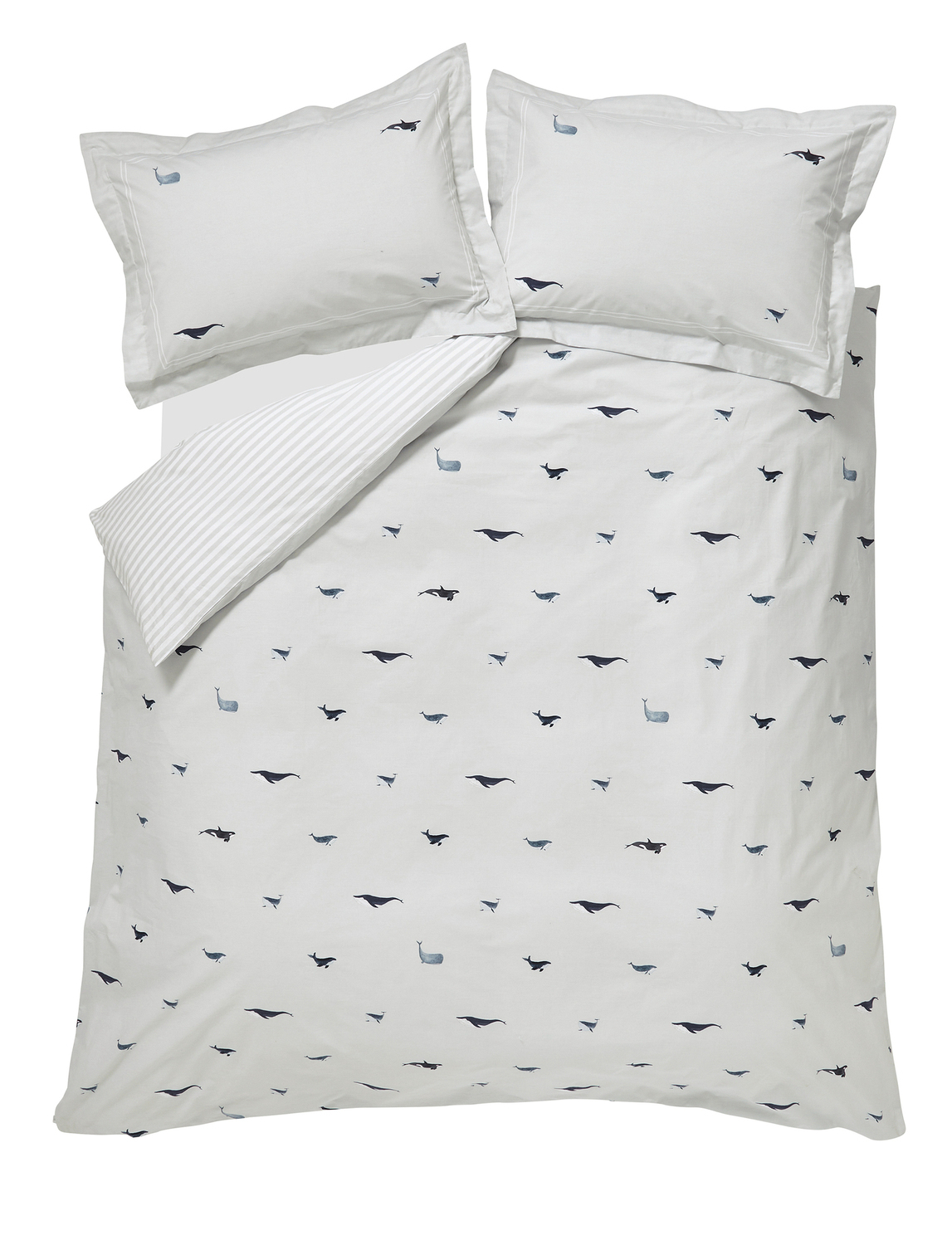 Sophie Allport Whale Oxford Pillowcase Pair