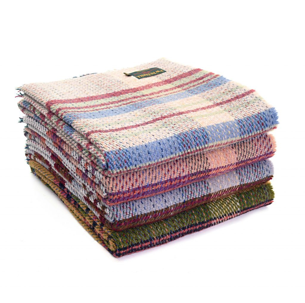 Tweedmill Recycled Wool Blanket Throw Assorted Colours