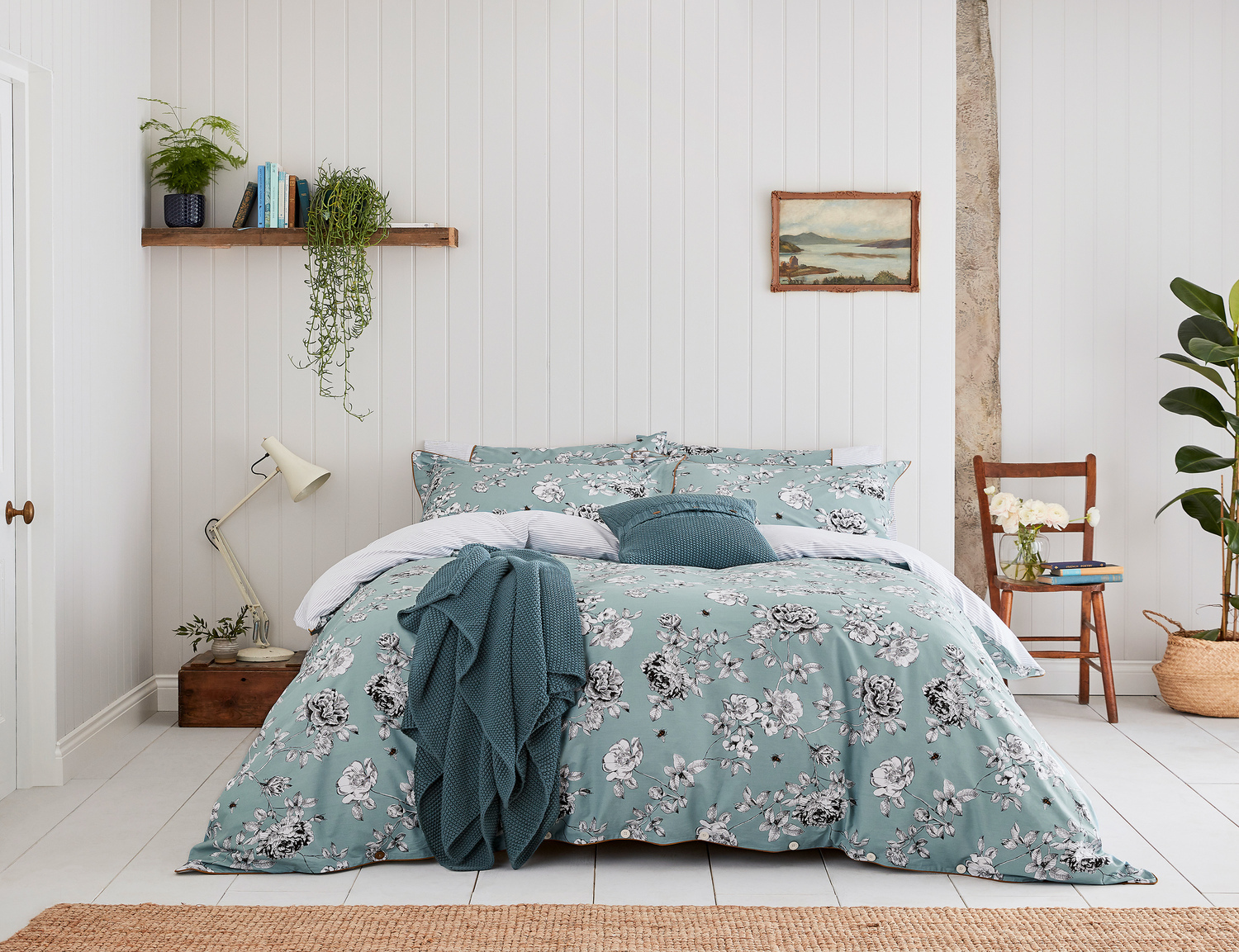 Joules Imogen Blue Bedding Set King