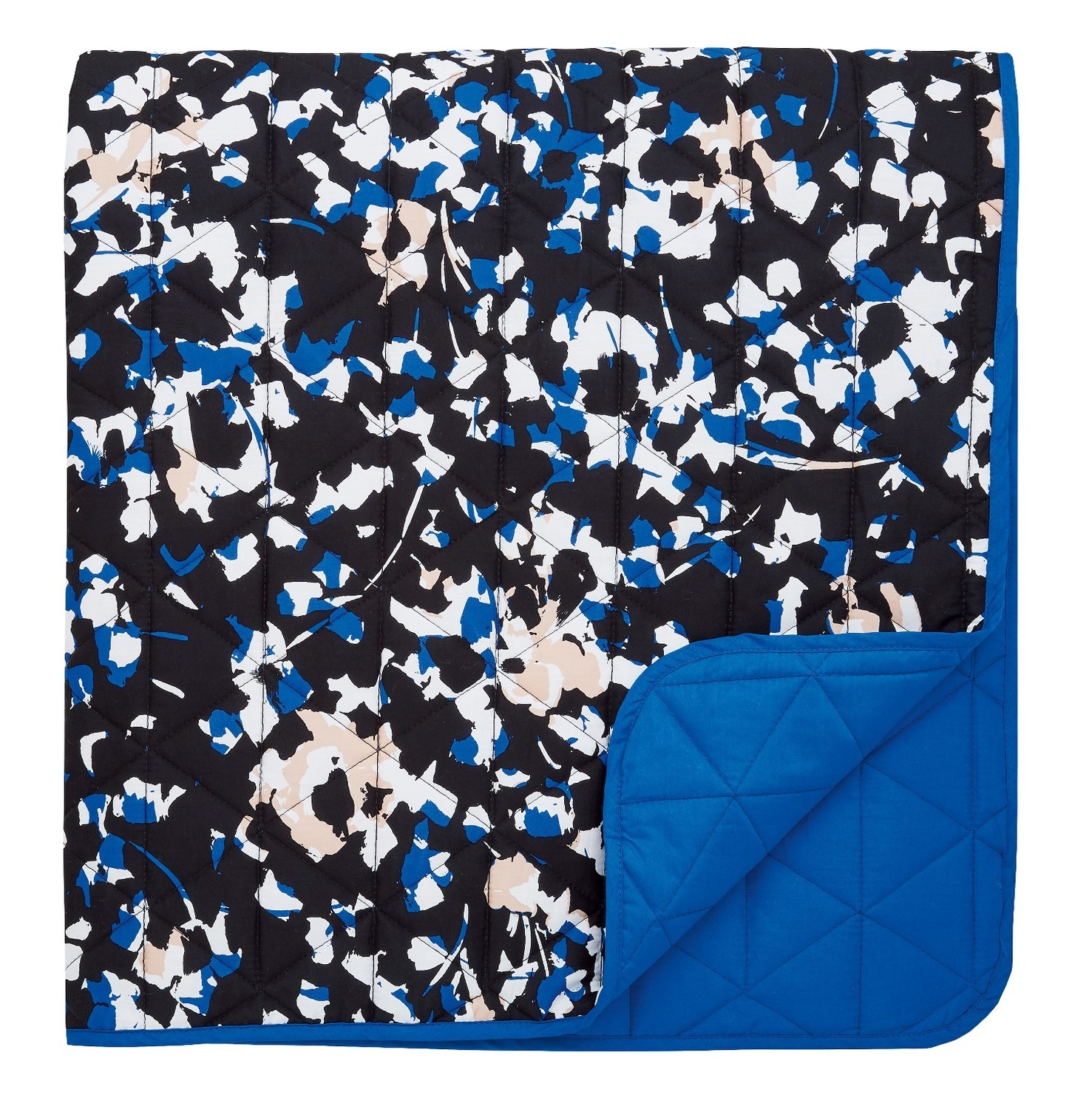 DKNY Street Art Quilted Blanket Throw Black