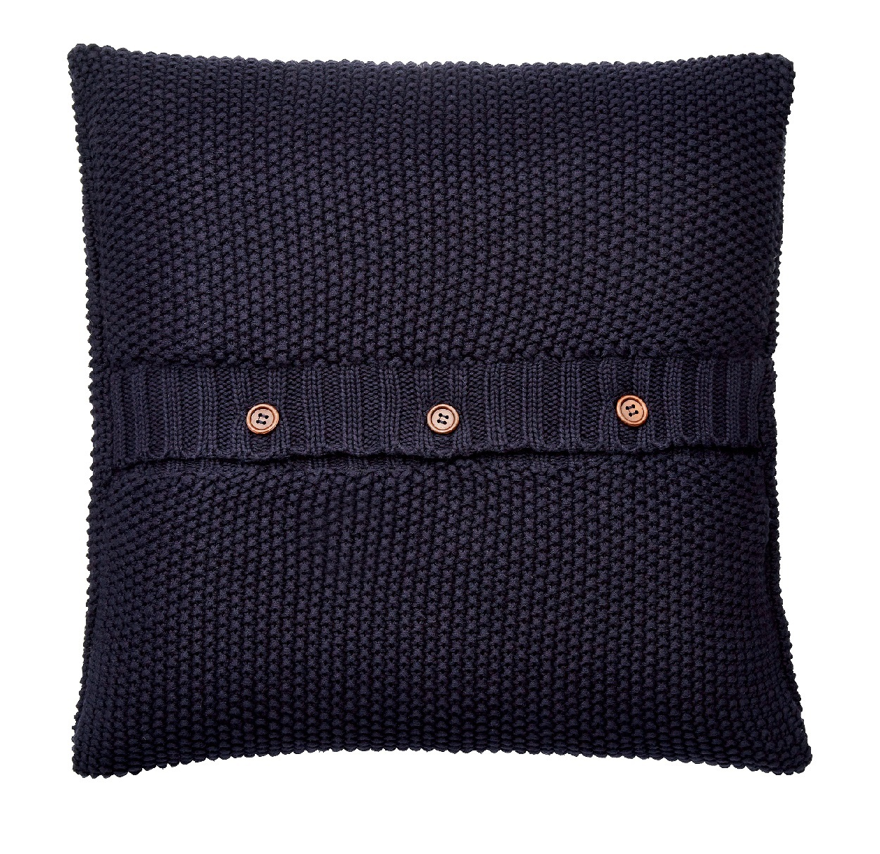 Joules Bircham Bloom Green Navy Knitted Cushion