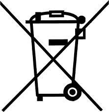 Crossed Out Wheelie Bin Symbol
